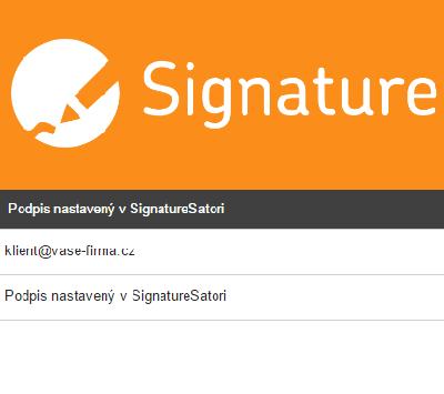 Corporate identity v emailovém podpisu