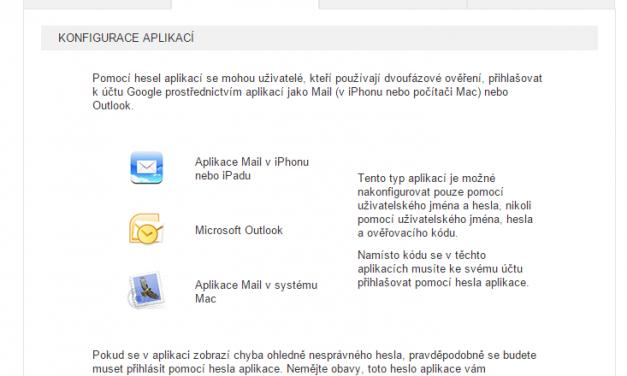 Google Apps a jeho připojení k Outlooku